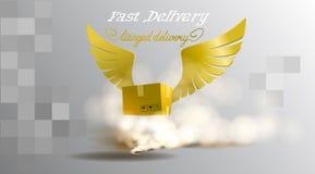 entrega Aperto de mão abstrato, logotipo das asas negócio, carga, sucesso, dinheiro, negócio, contrato, equipe, ícone do símbolo  ilustração do vetor