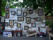 Entrega Bucareste 2015 da rua, quando a arte, os artistis, o craftwork e muitas outras coisas frescas forem convidados para ocorr fotografia de stock royalty free