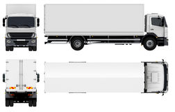 Entrega/caminhão da carga Fotografia de Stock Royalty Free