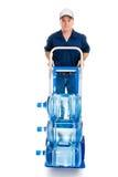 Entrega da água no caminhão de mão Imagem de Stock