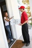 Entrega da pizza Imagens de Stock Royalty Free