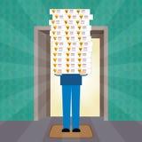 Entrega da pizza em casa Vetor ilustração royalty free