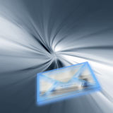 Entrega de correio do Internet ilustração do vetor