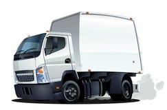Entrega de la historieta o camión del cargo Foto de archivo libre de regalías