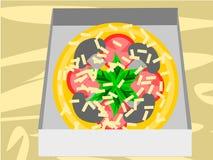 Entrega de la pizza foto de archivo