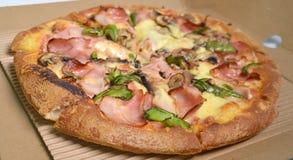 Entrega de la pizza caliente Foto de archivo libre de regalías