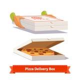 Entrega de la pizza Dar las cajas de una pizza Fotografía de archivo