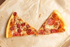 Entrega de la pizza Menú de la pizza Fotos de archivo libres de regalías