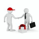 Entrega de las mercancías en el fondo blanco Imágenes de archivo libres de regalías
