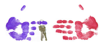 Entrega de los claves Imagen de archivo libre de regalías