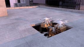 Entrega de Quadcopter ilustração do vetor