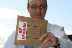Entrega de Refridgerated para você fotos de stock royalty free