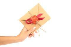 Entrega de una invitación Foto de archivo libre de regalías