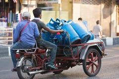 Entrega del gas en Tailandia Imágenes de archivo libres de regalías