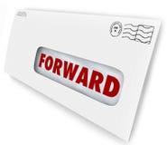 A entrega dianteira da parada das férias do correio envia o endereço novo ilustração royalty free
