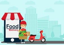 Entrega do alimento Imagem de Stock