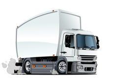 Entrega dos desenhos animados ou caminhão da carga Foto de Stock Royalty Free
