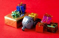 Entrega dos presentes de Natal Fotografia de Stock