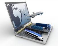 Entrega e transporte por todos os tipos de transpor Imagem de Stock