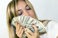 Entrega el dinero Imágenes de archivo libres de regalías