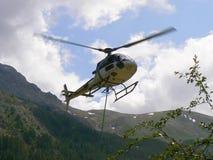 Entrega en helicóptero Foto de archivo libre de regalías