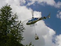 Entrega en helicóptero Fotografía de archivo