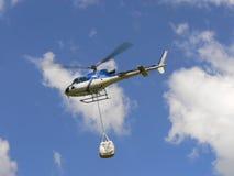 Entrega en helicóptero Fotos de archivo