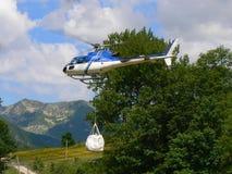 Entrega en helicóptero Imagenes de archivo