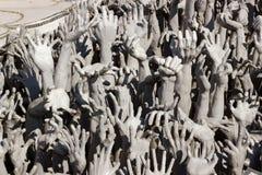 Entrega a escultura do inferno Fotografia de Stock Royalty Free