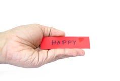 Entrega feliz Foto de Stock