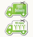 Entrega gratuita, etiquetas de envío gratis ilustración del vector