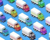 Entrega isométrica Van Car Icon Imagens de Stock Royalty Free