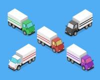 Entrega isométrica Van Car Icon Fotografia de Stock Royalty Free
