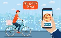 Entrega italiana da pizza Fotografia de Stock Royalty Free