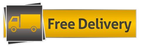 Entrega libre con Van Yellow Black Horizontal Imagen de archivo libre de regalías