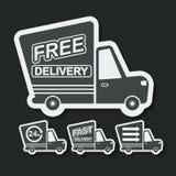 Entrega libre, iconos rápidos de la entrega fijados Vector Imágenes de archivo libres de regalías