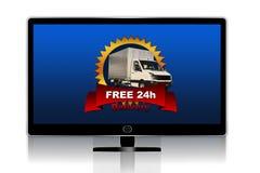 Entrega libre TV Fotos de archivo