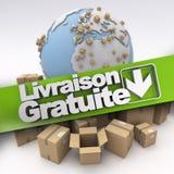 Entrega livre do International em francês Imagens de Stock