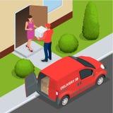 Entrega livre, entrega rápida, entrega a domicílio, transporte livre, 24 entregas da hora, conceito da entrega, entrega expressa Imagens de Stock Royalty Free