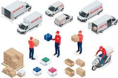 Entrega livre, entrega rápida, entrega a domicílio, transporte livre, 24 entregas da hora, conceito da entrega, entrega expressa Imagem de Stock