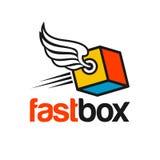 Entrega Logo Template Imágenes de archivo libres de regalías