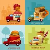 Entrega móvil de la comida Foto de archivo libre de regalías