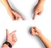 Entrega o gesti Imagem de Stock