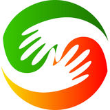 Entrega o logotipo Fotografia de Stock Royalty Free