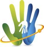 Entrega o logotipo Fotografia de Stock