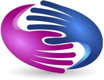 Entrega o logotipo Imagens de Stock