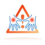 Entrega o sinal do conselho da higiene ilustração do vetor