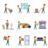 Entrega Person Freight Logistic Business Service Fotos de Stock