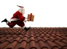 Entrega rápida Santa Claus Imagens de Stock Royalty Free