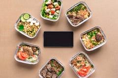 Entrega sana de la comida fotos de archivo